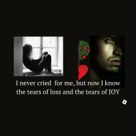 I never cried